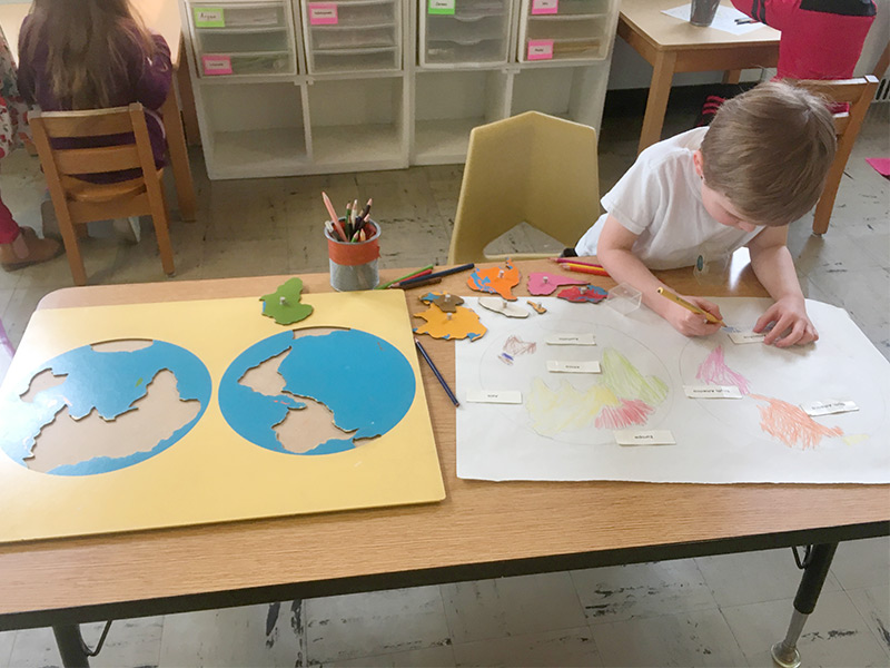 Geography Continents of the World | Indiana, PA Preschool Montessori